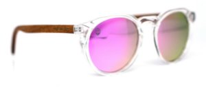 Óculos de Sol de Acetato com Madeira Bonventre Pink