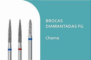 Broca Diamantada Cilíndrica Ponta chama FG