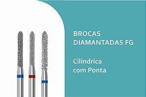 Brocas Diamantadas Cilíndrica com Ponta FG