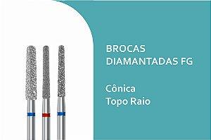 Broca Diamantada Cônica Topo Raio FG