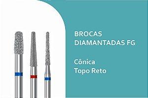Broca Diamantada Cônica Topo Reto FG