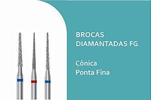 Brocas Diamantadas Cônica Ponta Fina FG