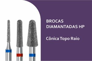 Brocas Diamantadas Cônicas Topo Raio HP