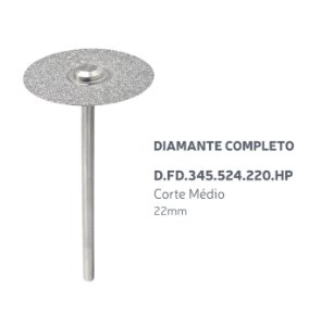 Disco Diamantado - Diamante Completo - D.FD.345.524.220.HP