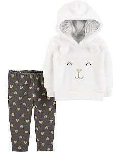 Conjunto Carter's 2 Peças Blusa e Calça Face Cat
