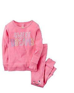 Pijama Carter's Bons Sonhos Pink tamanho 12m