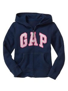 Blusa Moletom Gap Original Infantil Ziper 4 Anos