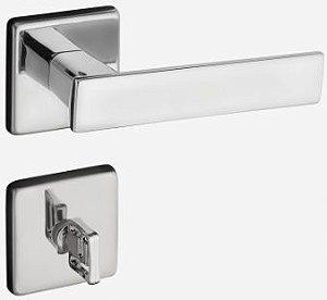 Fechadura Quadra Cromada Banheiro - Pado