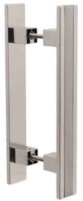 Puxador Ref.355 Cromado/Acetinado - Pauma