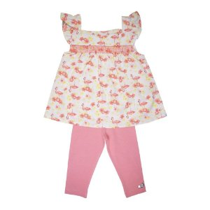 Conjunto Bata e Legging Infantil Menina Cereja