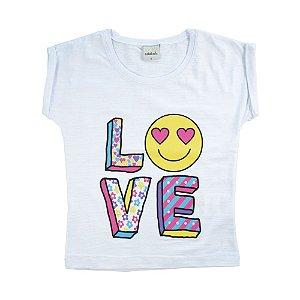Blusa Infantil Love Menina Branca