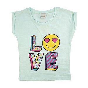 Blusa Infantil Love Menina Verde