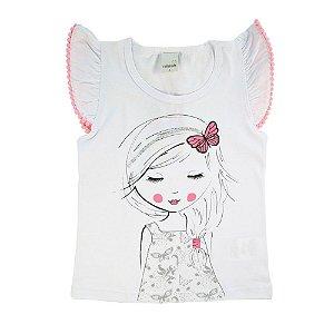 Blusa Infantil Menina Branca