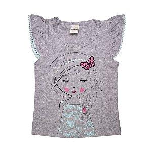 Blusa Infantil Menina Mescla