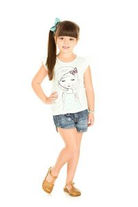 Blusa Infantil Menina Off White
