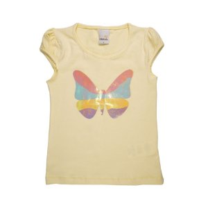 Blusa Infantil Borboleta Menina Amarelo