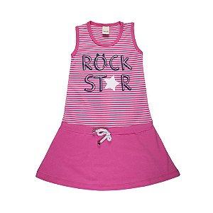 Vestido Regata Infantil Esportivo Pink - Ralakids