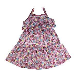 Vestido Ciganinha Flores Infantil Menina Confeti