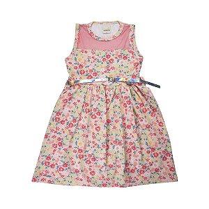 Vestido Florzinhas Infantil Menina Rosa