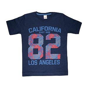 Camiseta Gola V California Infantil Menino Marinho