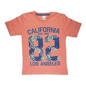 Camiseta Gola V California Infantil Menino Laranja