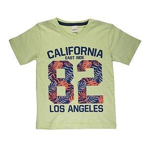Camiseta Gola V California Infantil Menino Verde