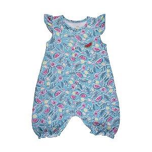 Macacão Infantil Menina Azul