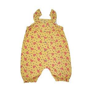 Macacão Infantil Menina Amarelo