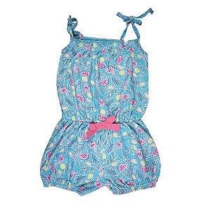 Macaquinho de Alcinha Infantil Menina Azul