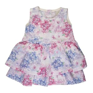 Vestido Rosas Infantil Menina Pink