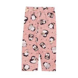 Calça Legging Infantil Penguins Menina Boca