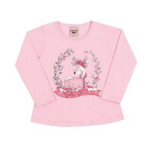 Blusa Infantil Cervo Menina Rosa