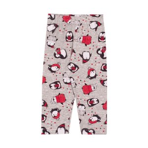 Calça Legging Infantil Penguins Menina Mescla