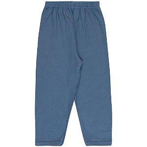 Calça Infantil Básica Menino Azul Médio