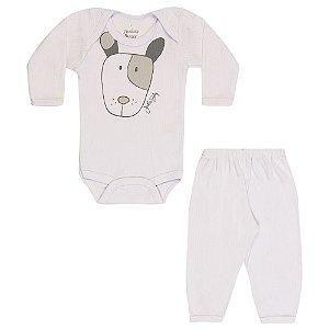 Conjunto Body e Calça Infantil Menino Branco