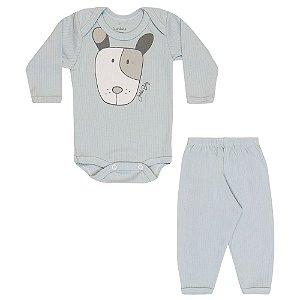 Conjunto Body e Calça Infantil Menino Azul Claro
