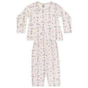 Pijama Infantil Menina Coelho