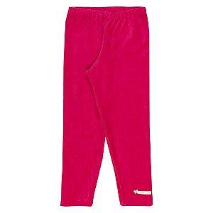 Calça Legging Veludo Infantil Menina Pink