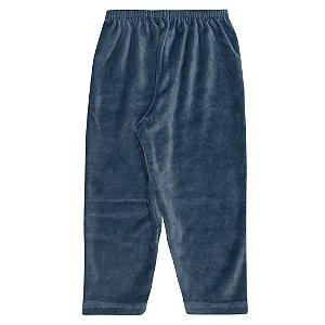 Calça Plush Infantil Menino Azul Médio