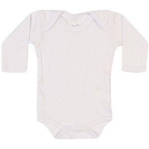 Body Longo Infantil Básico Menino Branco