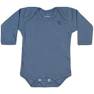 Body Long Infantil Básico Menino Azul Médio