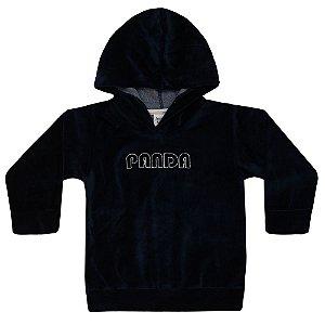 Moletom Plush Panda Infantil Menino Marinho