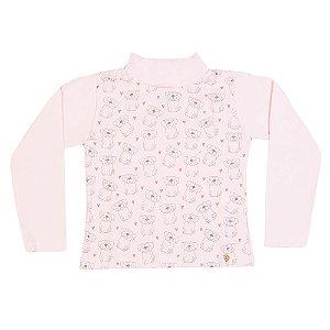 Blusa Infantil Menina Rosa Claro
