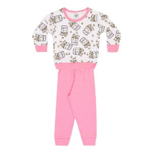 Pijama Infantil Menina Pipoca Rosa