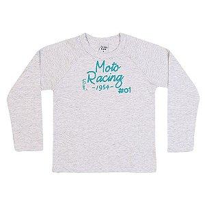 Camiseta Infantil Menino Moto Racing Mescla - Junkes