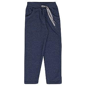 Calça Moletom Infantil Masculina Azul Médio