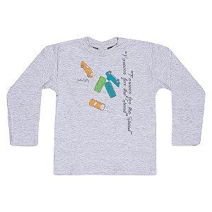 Camiseta Manga Longa Infantil Carros Menino Mescla