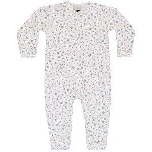 Macacão Pijama Infantil Menino Estrelas