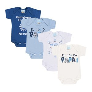 Kit 4 Body Suedine Papai Infantil Menino
