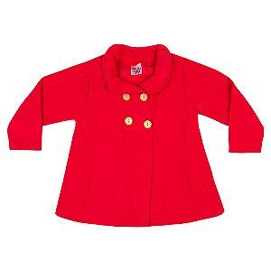 Casaco Bouclê Infantil Menina Vermelho